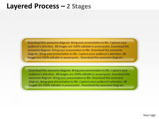 Consulting Diagram Layered Process Templates 2 Stages Sales Diagram