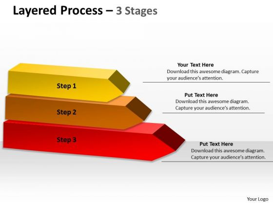 Consulting Diagram Layered Process With 3 Stages Marketing Diagram