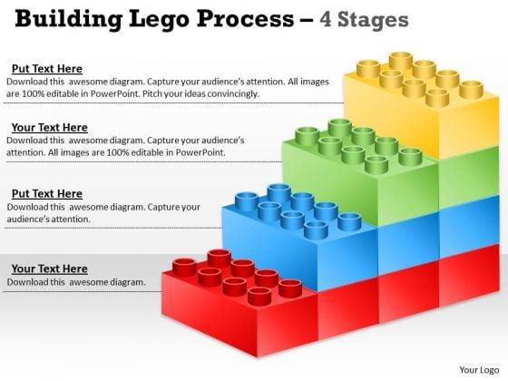 Consulting Diagram Lego Blocks Diagram 4 Stages Strategic Management