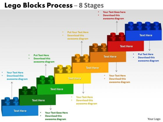 Consulting Diagram Lego Blocks Flowchart Process Diagram 8 Stages Marketing Diagram
