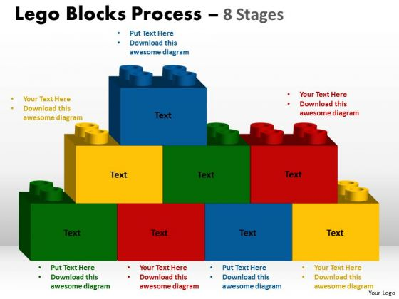 Consulting Diagram Lego Blocks Process 8 Stages Marketing Diagram