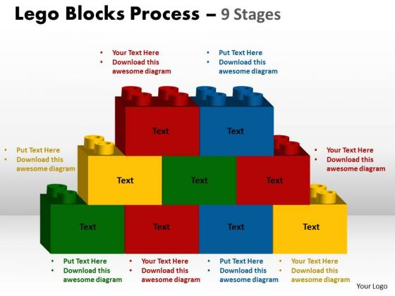 Consulting Diagram Lego Blocks Process 9 Stages Strategic Management