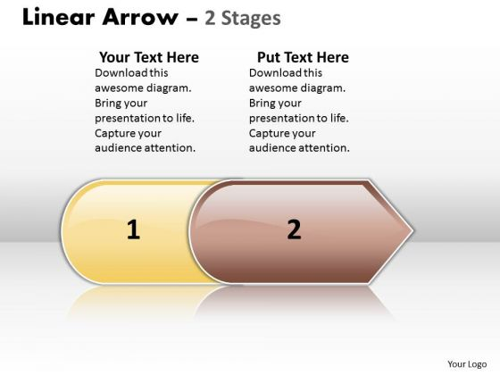 Consulting Diagram Linear Arrow 2 Stages