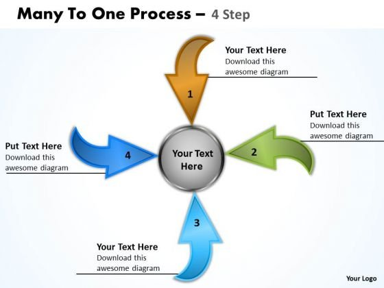 Consulting Diagram Many To One 4 Steps 7 Business Diagram