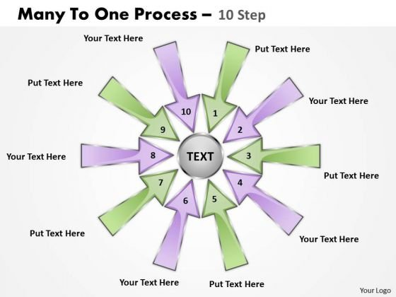 Consulting Diagram Many To One Process 10 Step Marketing Diagram