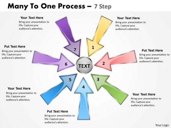 Consulting Diagram Many To One Process 7 Step Marketing Diagrams