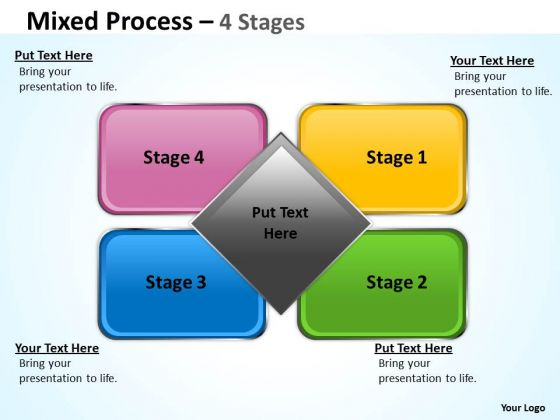 Consulting Diagram Mixed Diagram 4 Step For Marketing Business Cycle Diagram