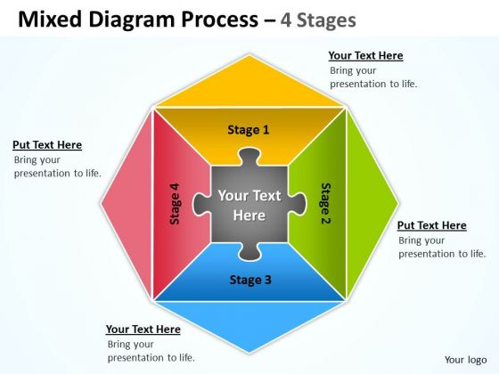 Consulting Diagram Mixed Diagram Process 4 Stages Sales Diagram