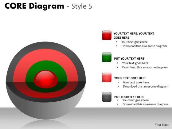 Consulting Diagram Multicolor 4 Stages Core Diagram Sales Diagram