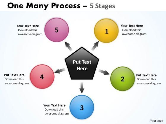 Consulting Diagram One Many Process 5 Stages Business Framework Model