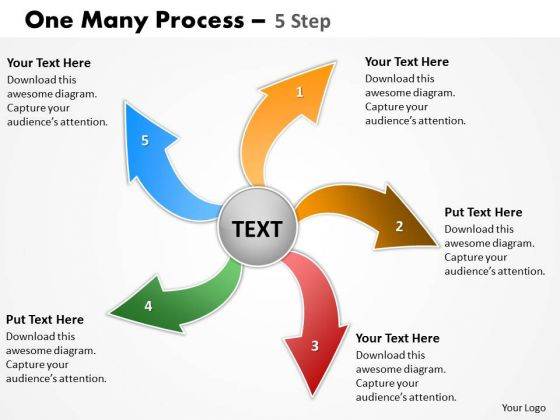 Consulting Diagram One Many Process 5 Step Mba Models And Frameworks