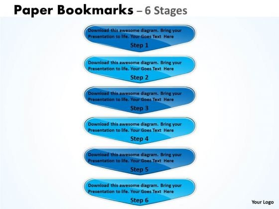 Consulting Diagram Paper Bookmarks 6 Stages Marker Marketing Diagram