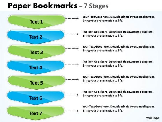 Consulting Diagram Paper Bookmarks Diagram With 7 Stages Sales Diagram