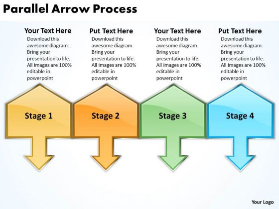 Consulting Diagram Parallel Arrow Process Business Cycle Diagram
