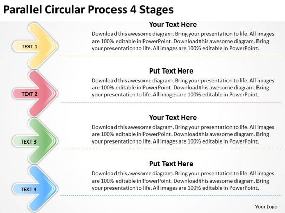 Consulting Diagram Parallel Circular Process 4 Stages Business Cycle Diagram