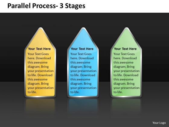 Consulting Diagram Parallel Process 3 Stages Business Cycle Diagram