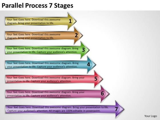 Consulting Diagram Parallel Process 7 Stages Strategy Diagram