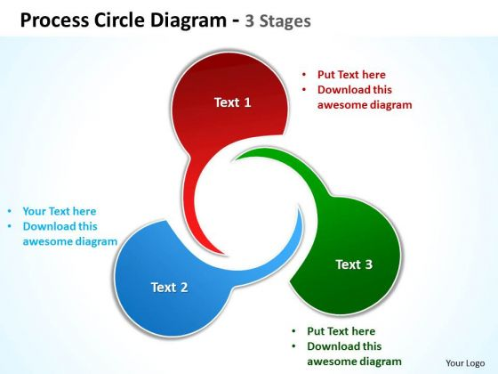 Consulting Diagram Process Circle Diagram 3 Stages Strategy Diagram
