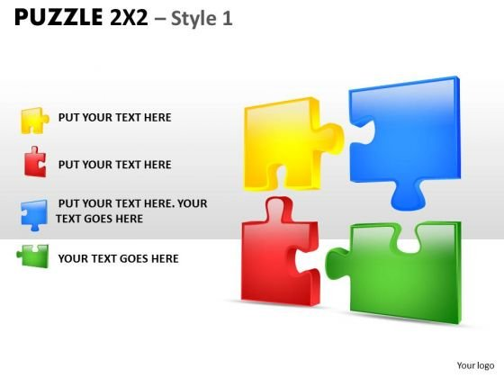 Consulting Diagram Puzzle 2x2 Style 1 Business Diagram