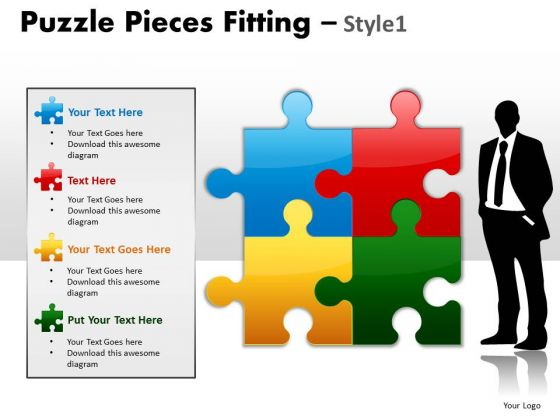 Consulting Diagram Puzzle Pieces Fitting Style 1 Strategy Diagram