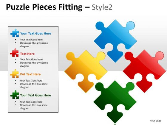 Consulting Diagram Puzzle Pieces Fitting Style 2 Strategy Diagram