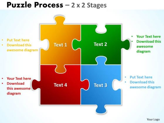 Consulting Diagram Puzzle Process 2 X 2 Stages Strategy Diagram