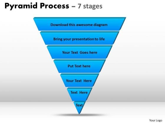 Consulting Diagram Pyramid Process Diagram 7 Stages For Marketing Strategy Diagram