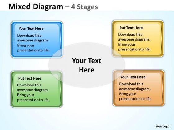Consulting Diagram Square Mixed Diagram For Business Marketing Diagram