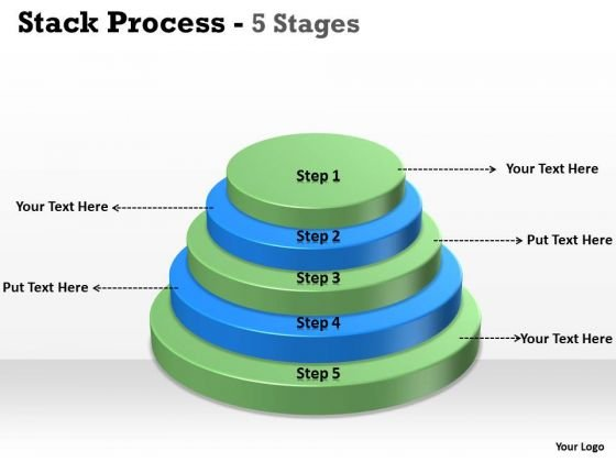Consulting Diagram Stack Process With 5 Steps Strategic Management