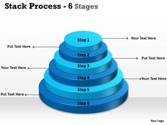 Consulting Diagram Stack Process With 6 Stages For Sales Strategy Diagram