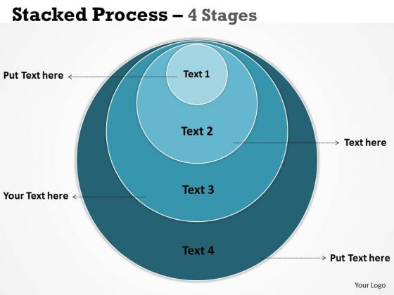 Consulting Diagram Stacked Process 4 Colorful Stages Mba Models And Frameworks