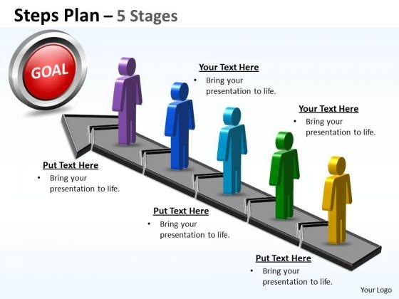 Consulting Diagram Steps Plan 5 Stages Business Finance Strategy Development