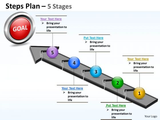 Consulting Diagram Steps Plan 5 Stages Style Business Finance Strategy Development