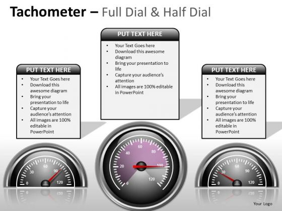 Consulting Diagram Tachometer Full Dial Business Diagram
