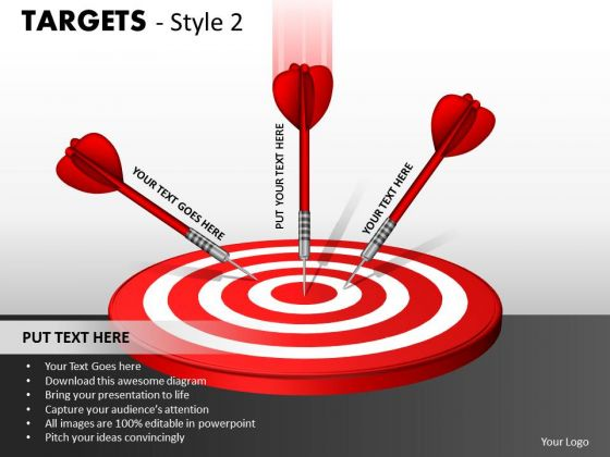 Consulting Diagram Targets Style 2 Strategy Diagram