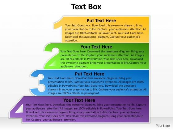Consulting Diagram Textbox Four Steps Diagram Strategy Diagram