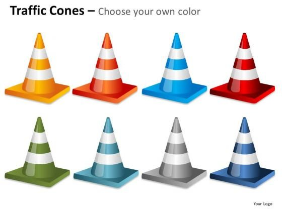 Consulting Diagram Traffic Cones Fallen Business Framework Model