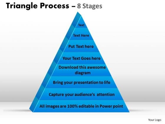 Consulting Diagram Triangle Process 8 Stages Strategy Diagram