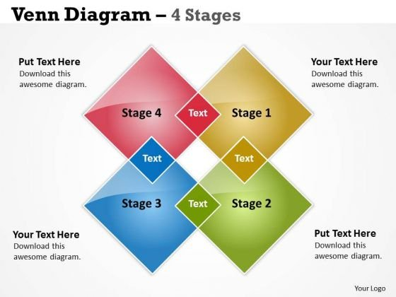 Consulting Diagram Venn Diagram 4 Stages Strategy Diagram