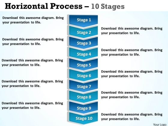 Consulting Diagram Vertical Process 10 Stages Sales Diagram