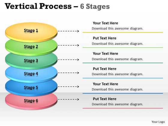 Consulting Diagram Vertical Process 6 Stages Diagram Strategy Diagram