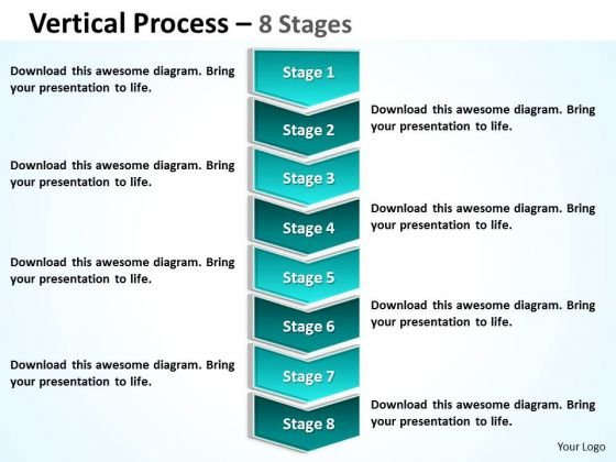 Consulting Diagram Vertical Process 8 Stages Strategy Diagram