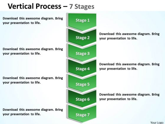 Consulting Diagram Vertical Process With 7 Stages Sales Diagram