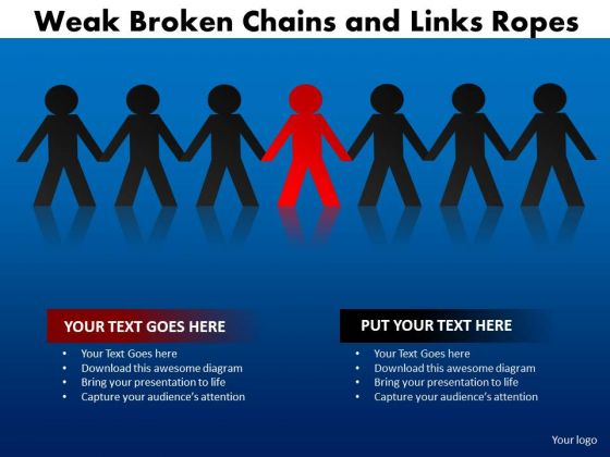 Consulting Diagram Weak Broken Chains And Links Ropes Mba Models And Frameworks