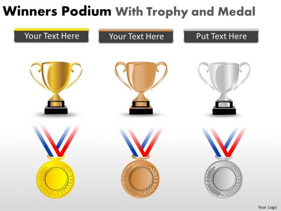 Consulting Diagram Winners Podium With Trophy And Medal Mba Models And Frameworks