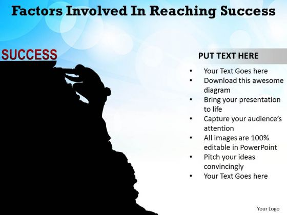 Factors Involved In Reaching Success Ppt Slides Diagrams Templates
