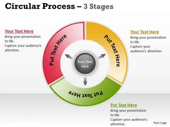 Marketing Diagram 3 Stages Business Process For Communication 5 Consulting Diagram
