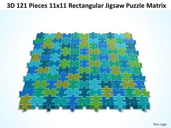 Marketing Diagram 3d 121 Pieces 11x11 Rectangular Jigsaw Puzzle Matrix Strategy Diagram
