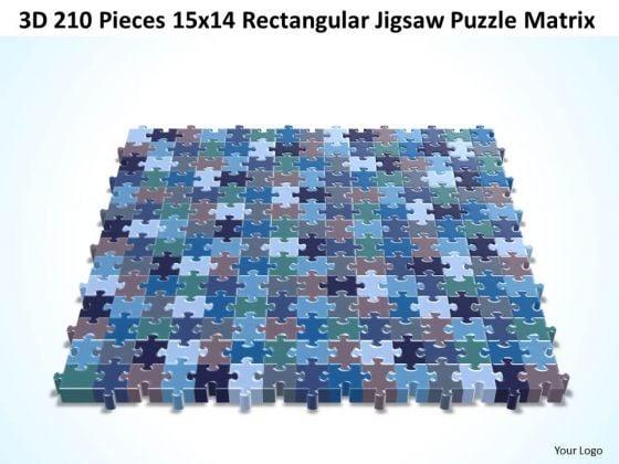 Marketing Diagram 3d 210 Pieces 15x14 Rectangular Jigsaw Puzzle Matrix Consulting Diagram