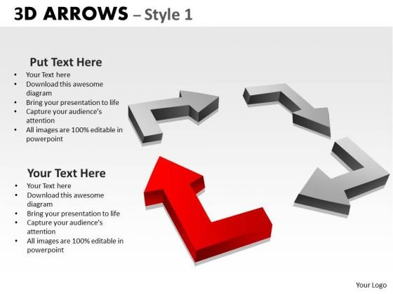 Marketing Diagram 3d Arrows Styli Strategic Management